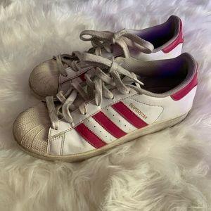 Adidas Superstar Shell Toe Women 8 Pink Men 6.5